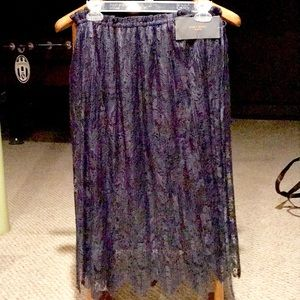 Navy blue lace skirt bought in Milan